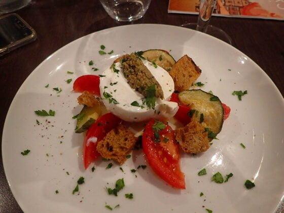 Une jolie salade au Bistrio de Tours